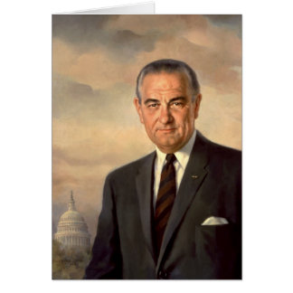 Lyndon Johnson Official Portrait Card