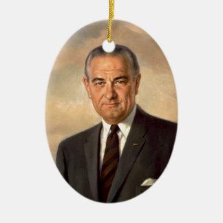 Lyndon Johnson Official Portrait Ceramic Ornament