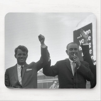 Lyndon Johnson With Robert Kennedy Mouse Pads
