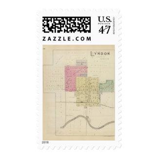 Lyndon, Osage County, Kansas Postage