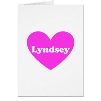 Lyndsey Tarjeta De Felicitación