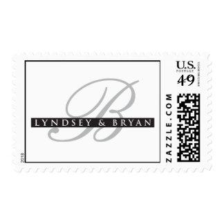 Lyndsey y monograma de Bryan Timbres Postales