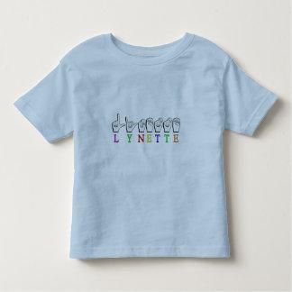 LYNETTE  FINGERSPELLED ASL NAME SIGN TODDLER T-SHIRT
