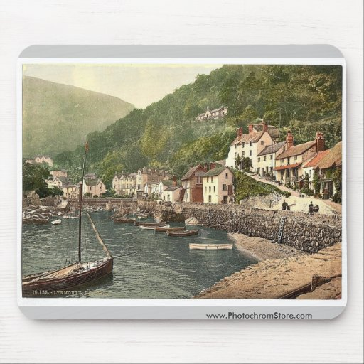 Lynmouth Harbor, Lynton and Lynmouth, England magn Mousepads