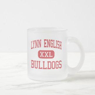 Lynn English - Bulldogs - High - Lynn 10 Oz Frosted Glass Coffee Mug