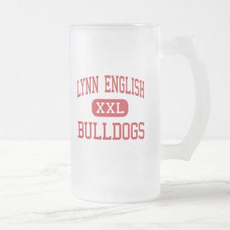 Lynn English - Bulldogs - High - Lynn 16 Oz Frosted Glass Beer Mug