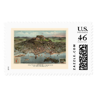 Lynn MA Panoramic Map - 1881 Postage Stamps