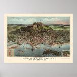 Lynn, mapa panorámico del mA - 1881 Impresiones