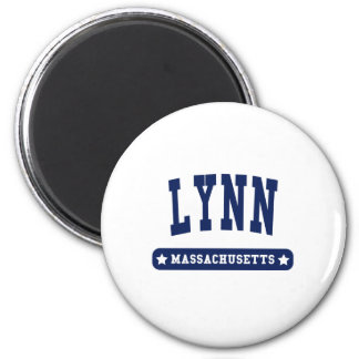 Lynn Massachusetts College Style tee shirts 2 Inch Round Magnet