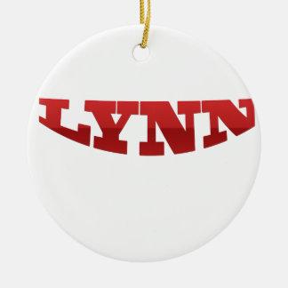 LYNN.png Ceramic Ornament