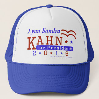 Lynn S Kahn President 2016 Election Independent Trucker Hat
