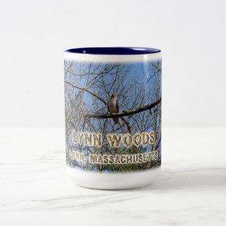 Lynn Woods - hawk Two-Tone Coffee Mug