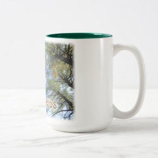 Lynn Woods - large trees Two-Tone Coffee Mug