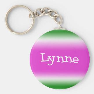 Lynne Basic Round Button Keychain