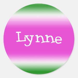 Lynne Classic Round Sticker