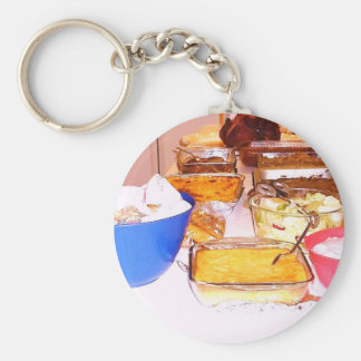 lynnfood.JPG picture food  for kitchen or business Basic Round Button Keychain