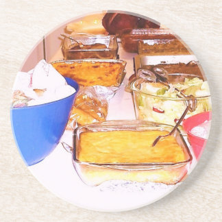 lynnfood.JPG picture food  for kitchen or business Sandstone Coaster