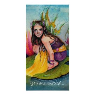Lynsye Faerie w Locket Customized Photo Card