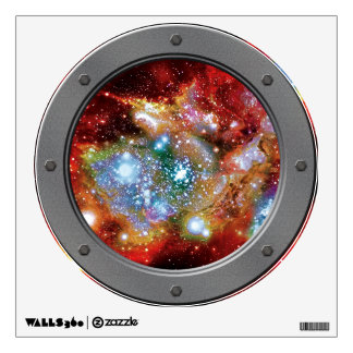 Lynx Arc Starbirth Cluster Porthole Space View Wall Decal