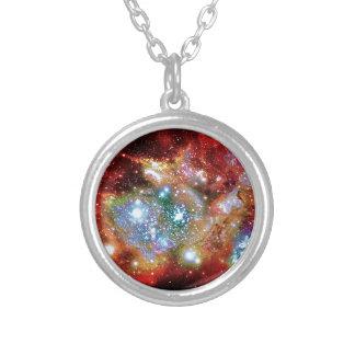 Lynx Arc Starbirth Cluster Round Pendant Necklace
