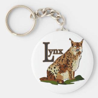 Lynx Basic Round Button Keychain