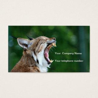 Lynx, bobcat beautiful photo custom business card