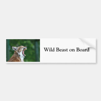 Lynx bobcat wild beast on board fun bumper sticker