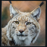 "Lynx Bobcat Wildlife Predator Cat Cloth Napkin<br><div class=""desc"">The Lynx,  also called Bobcat,  is a wildlife predator.  Living outdoors,  this feline cat is wild in nature.  frontiernow.com</div>"