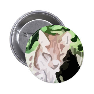 lynx cat painting button