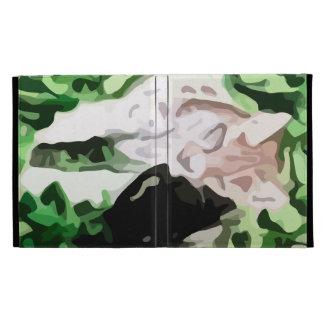 lynx cat painting iPad folio case