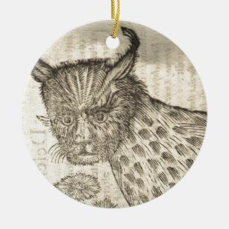Lynx Ceramic Ornament