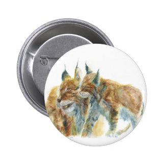 Lynx design by J.M.Jonsson 2 Inch Round Button