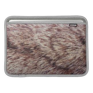 Lynx fur MacBook sleeves