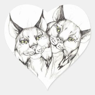 Lynx Love Heart Sticker