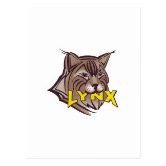 LYNX MASCOT POSTCARD