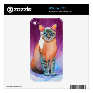 Lynx Point Siamese Cat at Kitty Angels Decal For The iPhone 4