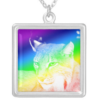Lynx Rainbow Sterling Silver Necklace