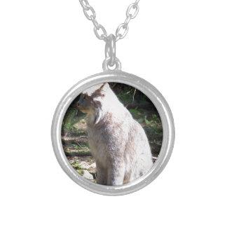 Lynx Round Pendant Necklace