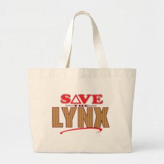 Lynx Save Large Tote Bag