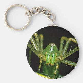 Lynx Spider Basic Round Button Keychain