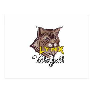 LYNX VOLLEYBALL POSTCARD