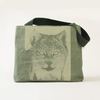 Lynx Wilderness Canvas Tote Bag