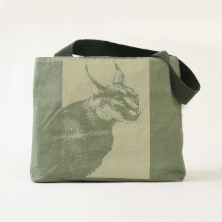 Lynx Wilderness Tough Canvas Utility Tote Bag