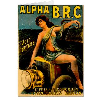 Lyon Berlin Auto Tours ~ Vintage Automobile Ad Card