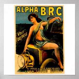 Lyon Berlin Auto Tours ~ Vintage Automobile Ad Poster