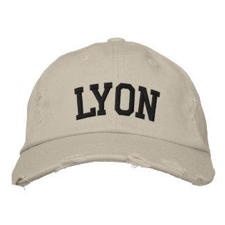 Lyon bordó el gorra gorra bordada