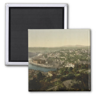 Lyon Cityview, France 2 Inch Square Magnet