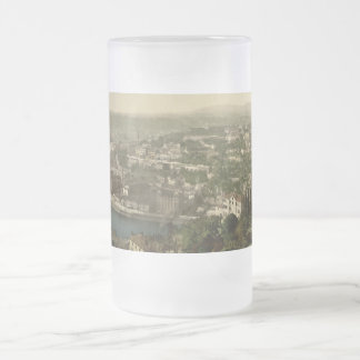 Lyon Cityview, France 16 Oz Frosted Glass Beer Mug
