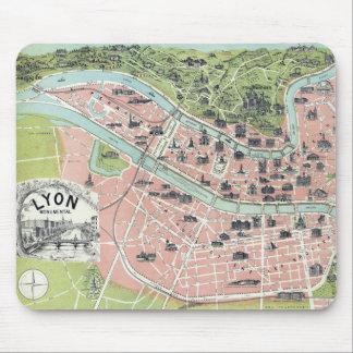 Lyon Monumental Map Garnier Freres Paris 1894 Mouse Pad