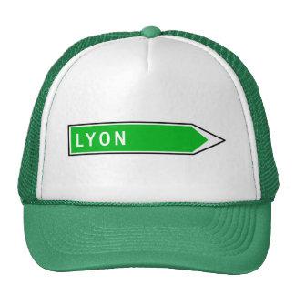 Lyon, señal de tráfico, Francia Gorras